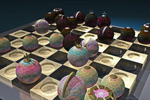 to 3D-art, 3D graphics, Spherical Chessmen by Johan Framhout