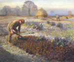 to Art7D.be, Painting for January 2015 - week 1: Sir George Clausen, A frosty March Morning, 1904