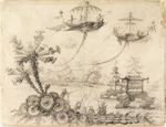 to the drawing Art7D.be, Painting for February 2016 - week 1: Jean-Baptiste Pillement (French, 1728-1808), Chinoiserie Fantasy, 1770–90