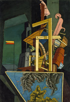to the painting Giorgio de Chirico The Melancholy of Departure 1916
