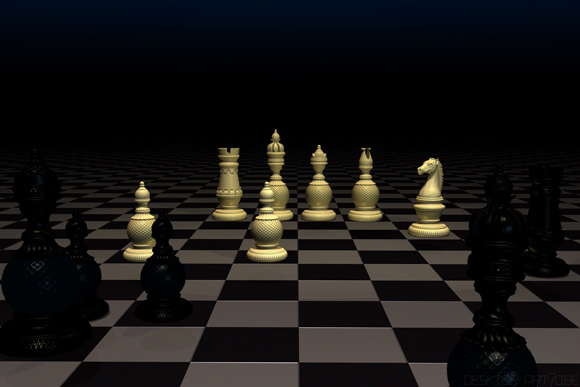 3D-art, Desktop art,  Chess