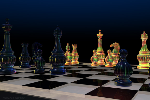 Chess, 3D artwork by Johan Framhout