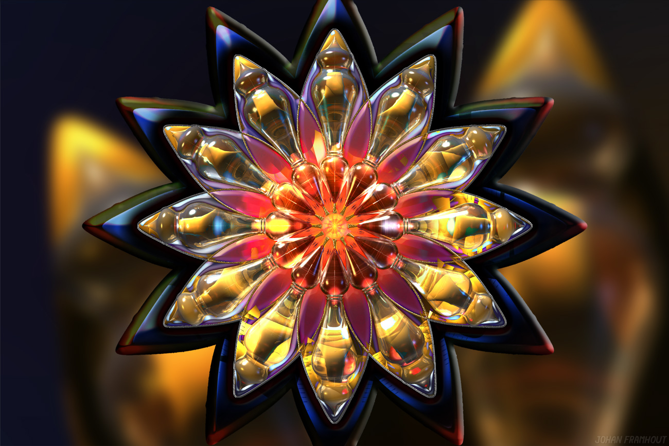 3D Mandala, Crystal energy, by Johan Framhout on art7d.be