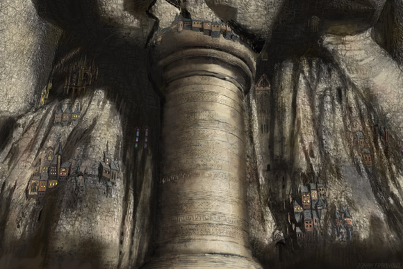 The pillar, a digital painting by Johan Framhout on art7d.be