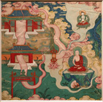 Anonym (Tibetan-Chinese-Mongolisch), to the 'Guide of purification of all bad rebirthings', Entrance of the mandala', 18th eeuw, probably copy from more ancient work