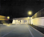 to Unidentified painter, Underpass New-York, 1933-34, oil on photograph on canvas on paperboard