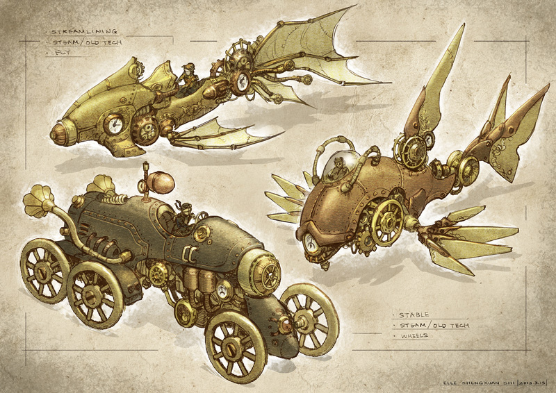 Elle Shengxuan Shi, Steampunk Vehicles