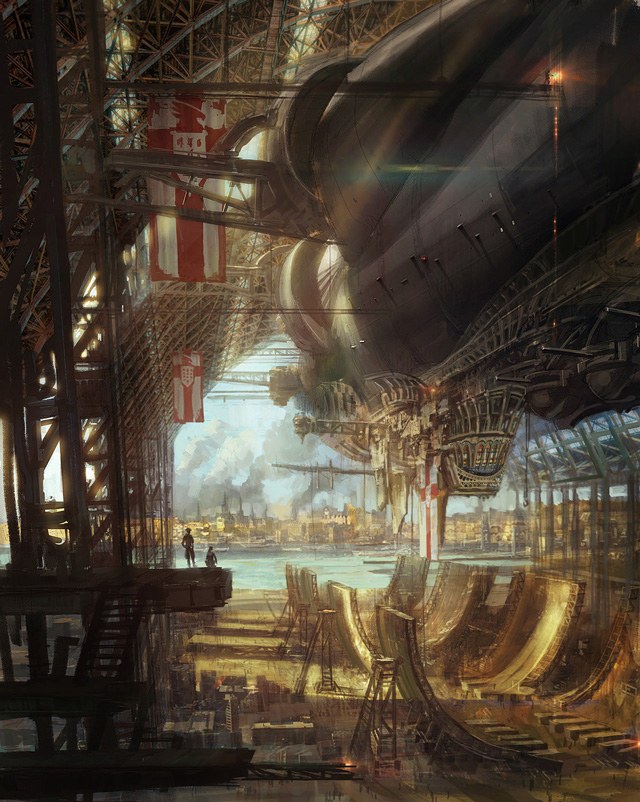 Joseph Kim, Airship, steampunk art design