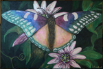 Butterfly, painting by Johan Framhout, acrylic on linen