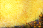 Sun celebration, a painting by Johan Framhout