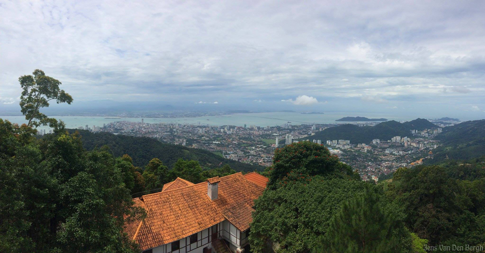 View from Penang Hill towards George Town & Butterworth (on the mainland)