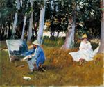 John Singer Sargent, Claude Monet Painting by the Edge of a Wood