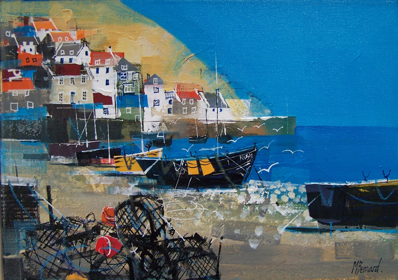 Mike Bernard Ri, Runswick Bay (mixed media)