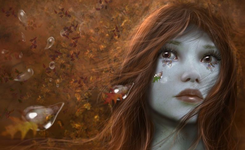 Dorothy, Tears of Autumn (digital art)