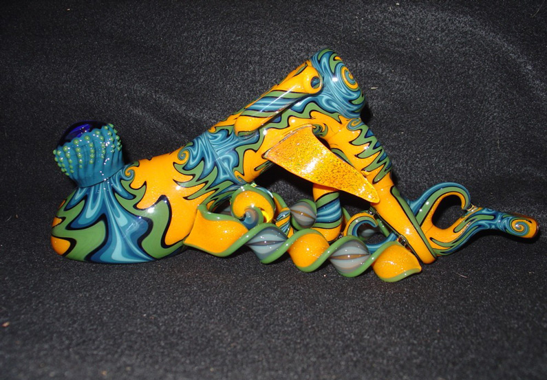 Jason Lee, Glass Pipes, glass sculpture