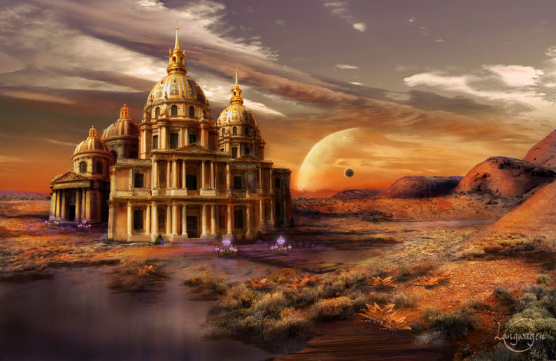 CassiopeiaArt, Desert Palace (matte-painting)