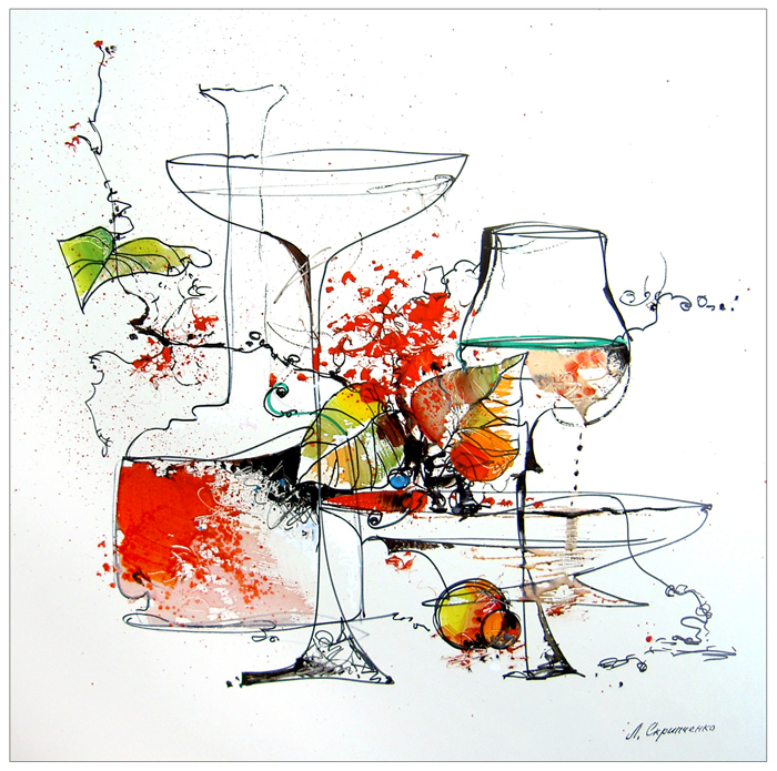 Ljoedmila Skrypchenko, Splash of red young wine