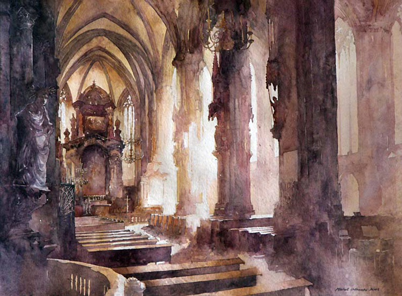 Mical Orlowsky, Stephansdom (aquarel)