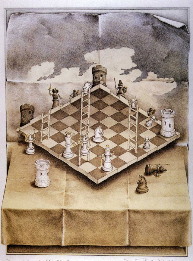 Sandro del Prete, Chess and Ladders attacking form above
