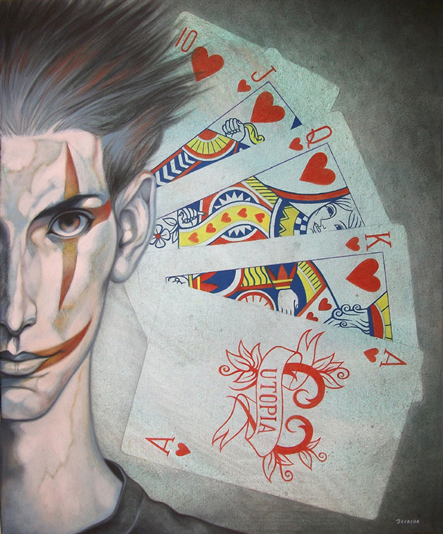 Fran Recacha, Royal Flush over Grey