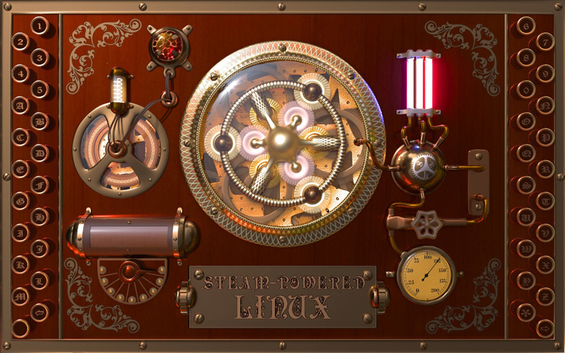 Steampunk Linux Wallpapers
