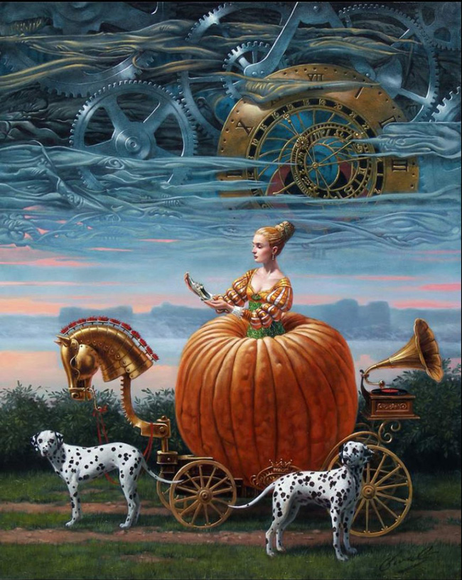 Michael Cheval, Time to be a Queen (oil on canvas)