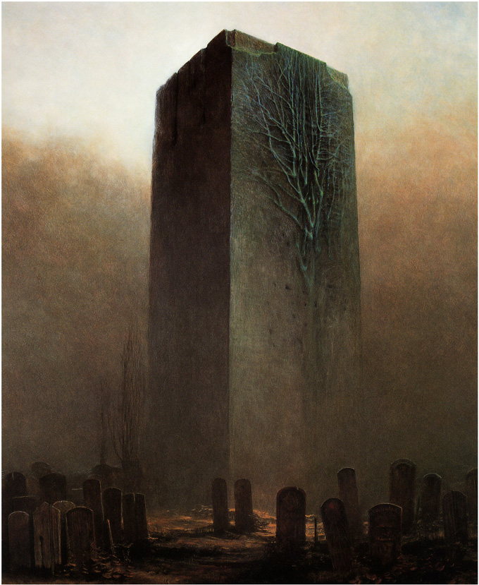 Zdzislaw Beksinski, Wrapped in Plastic