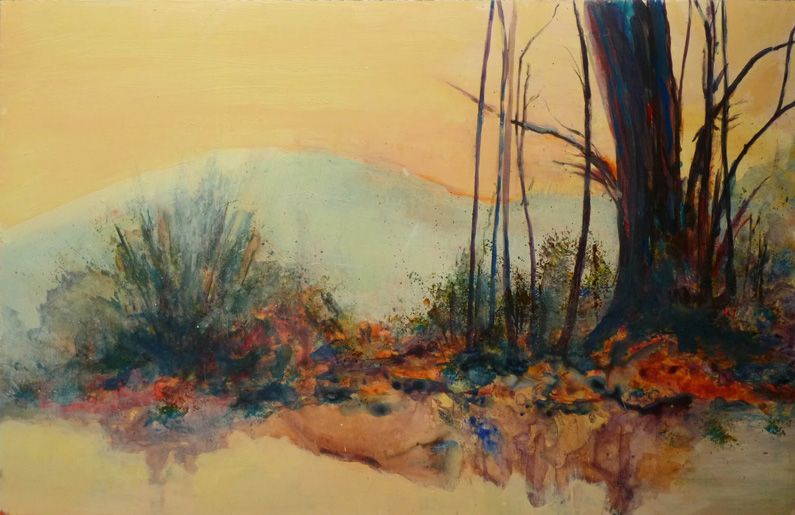 Randall David Tipton, Refuge (watercolours, acrylics and medium on plastic paper)