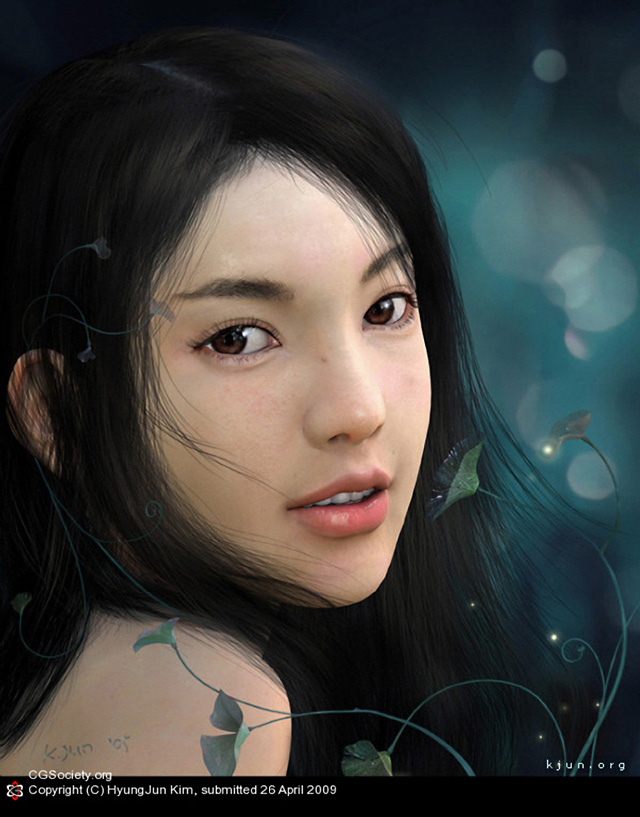 Kim Hyung Jun, Hue (Girl) (digital art)
