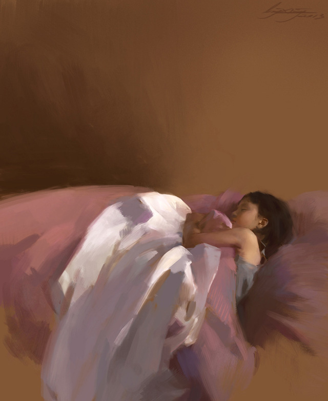 Ling Xiang, Pink Dream (digital painting)