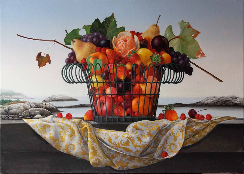 James Aponovich, Appledore, Basket of Fruit