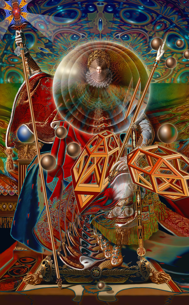 Scott Façon, Napoleon Blown Apart By Geometric Mysticism