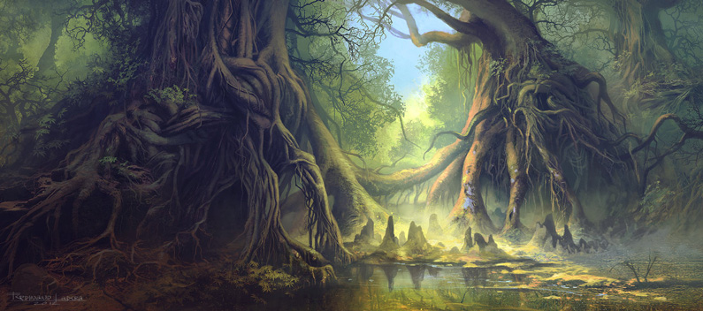 Ferdinand Ladera, Mystical Forest (digital painting)
