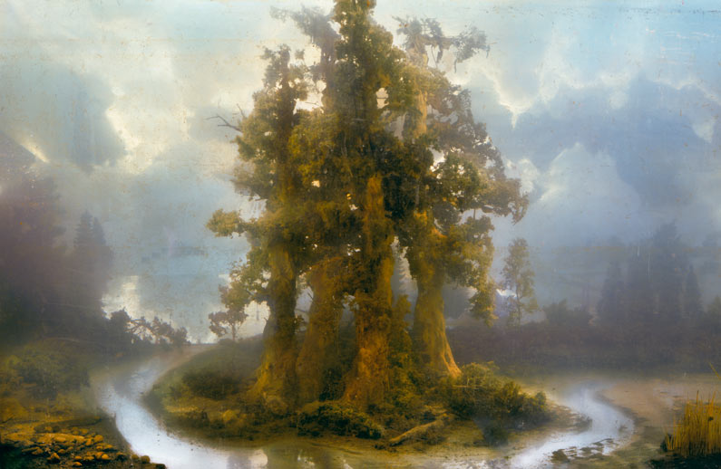 Kim Keever, Forest (composition in watertank, photographed)