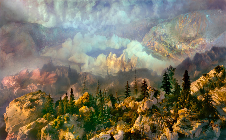 Kim Keever (composition in watertank, photographed)