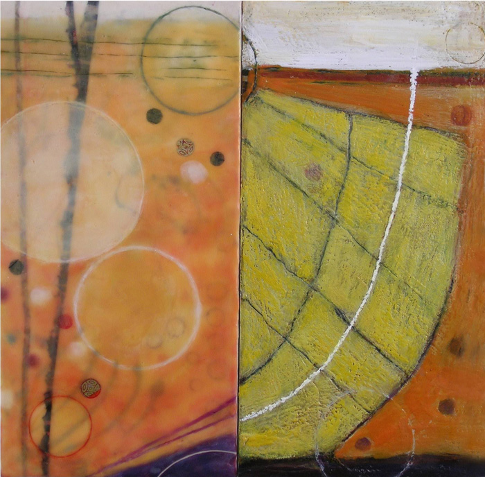 Inanna McGraw, IEA (left) + Richard Keen, NEW (right), Untitled, Diptych