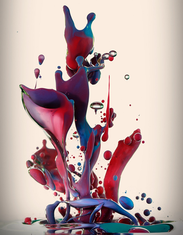 Albert Seveso (high speed photography of ink mixed with oil)