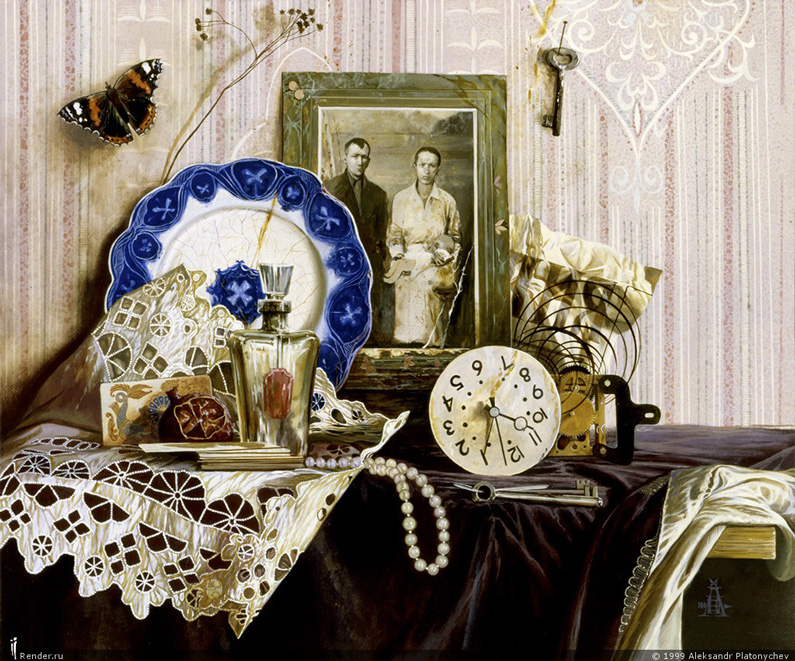 Alexander Platonich, Still Life with old Objects