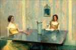 to panting Thomas Wilmer Dewing, A Reading