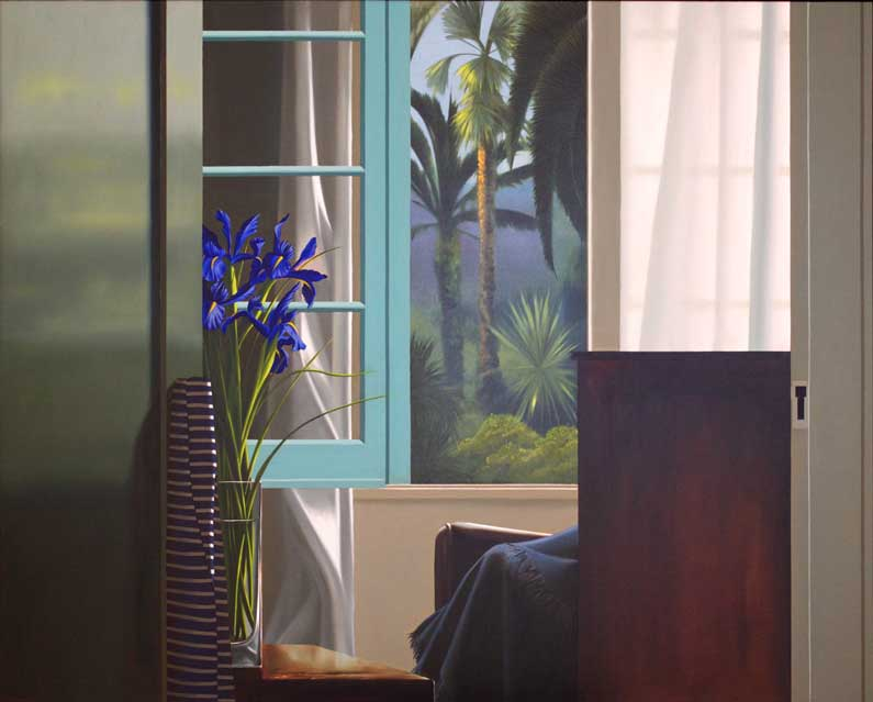 Bruce Cohen, Interior with blue Iris