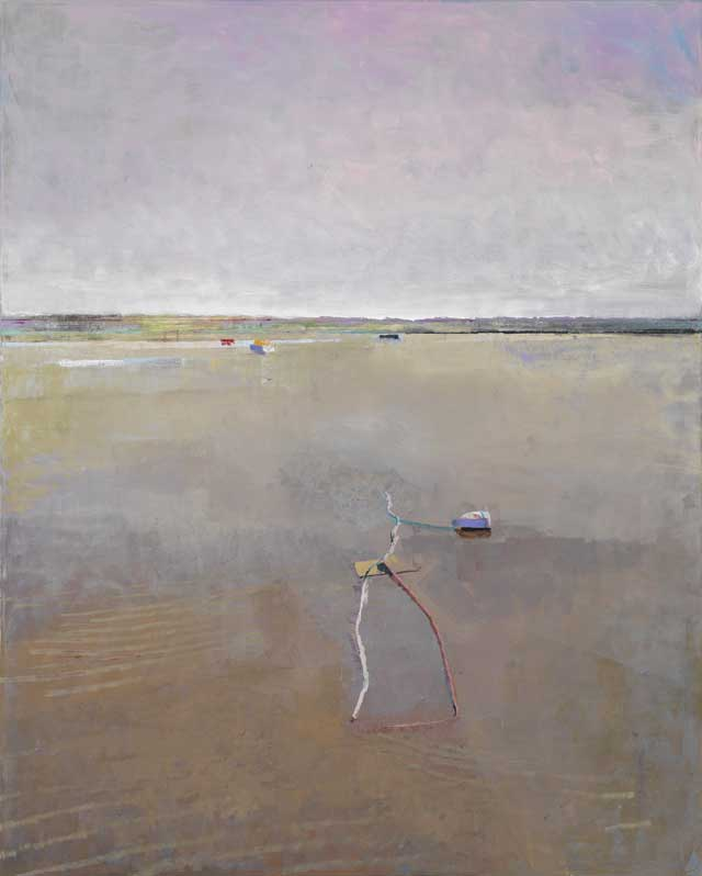John Evans, Low Tide with Boats and Buoy