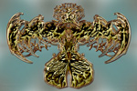 to Abstract ethereal Seraph D8 gold Brooch (by Johan Framhout)