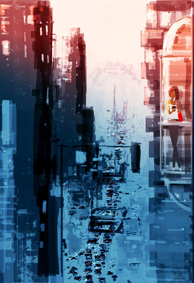 Pascal Campion, As Night falls on the big City